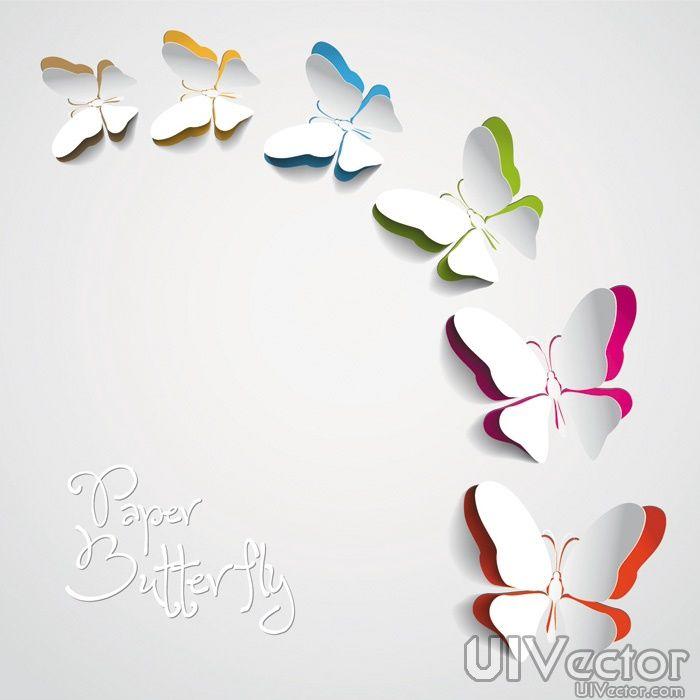 Butterfly creative paper-cut vector design