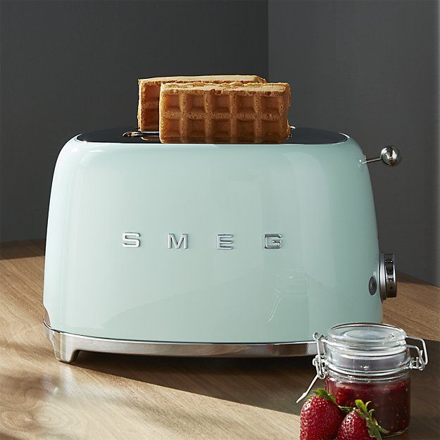 Smeg Pastel Green 2-Slice Retro Toaster | Crate and Barrel