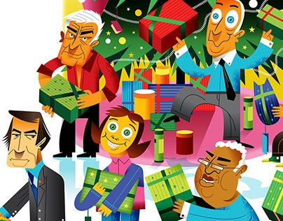 """Check out new work on my @Behance portfolio: """"Gente Especial de Natal/Special Christmas People."""" http://be.net/gallery/46660083/Gente-Especial-de-NatalSpecial-Christmas-People"""