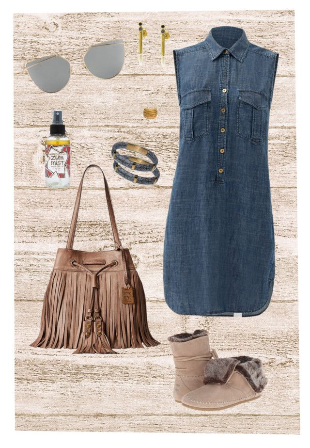 """""""Getting Groceries"""" by auntmissymusing ❤ liked on Polyvore featuring Trina Turk, TOMS, Maya Magal, Black & Sigi, Frye and getyourshopon"""