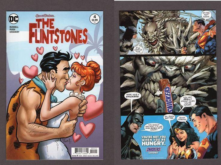 Flintstones #4 Dan Parent Kiss Variant Cover DC Comics 2016 Mark Russell