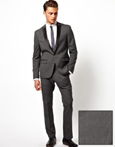 grey portofino slim fit