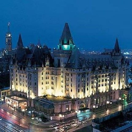 Fairmont Chateau Laurier. Ottawa Canada - where internationally renowned photographer Yosuf KARSH lived for many years berfore moving to New York city = MReno