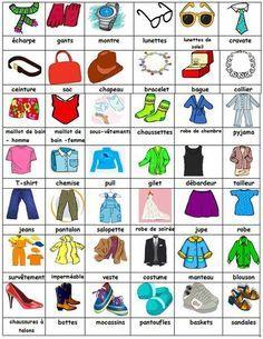 Vocabulaire: La mode et les vêtements :: Le français