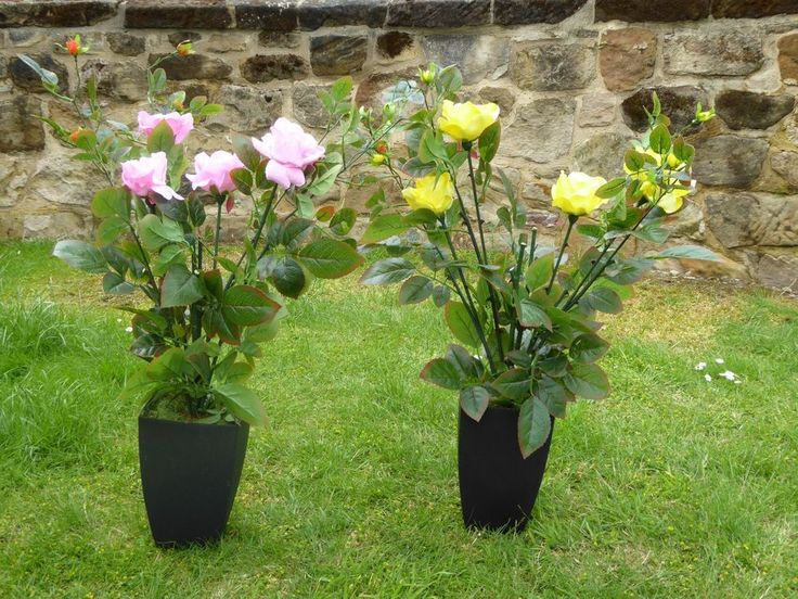 Large Artificial Rose Tree in a Plant Pot Flowers Bush 80cm  #UKGardens