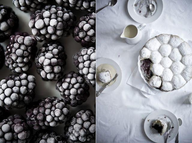 photisserie: Brombeerbuchteln mit warmer Vanillesauce:
