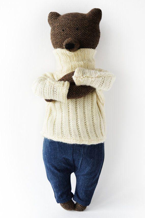 Sawyer The Bear. Primitive Bear. Child friendly toys. Soft Bear - Best Friend for kids