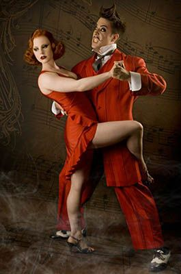 """A passionate and acrobatic Tango ensues, in which each character strives to get the shoes, eventually ending with Mr Gørski allowing Missy to grab the shoes whilst catching her in a cheeky embrace.  """"That was such a hot performance…my jaw had dropped to the floor!""""  """"…my favorites of the night!"""""""