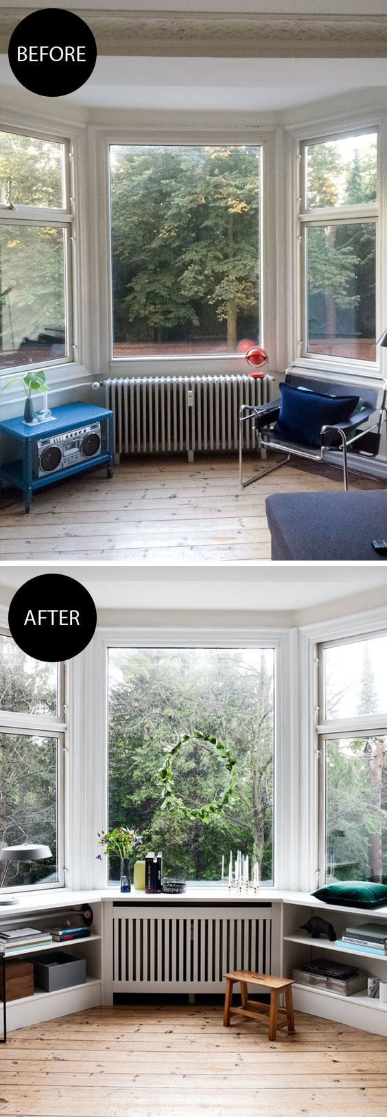 Transform your old bay window into a modern cosy corner.