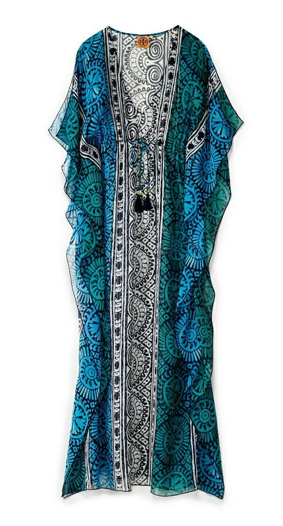 Tory burch tofino long caftan beach spring break beachwear for Tory burch fashion island