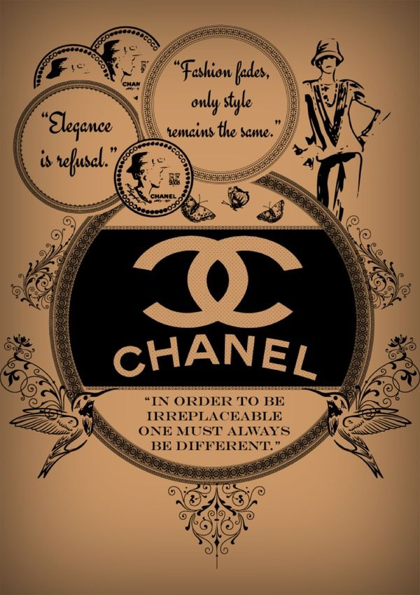 CoCo Chanel Print Ad/Poster/t-shirt by Laurel Natale, via Behance