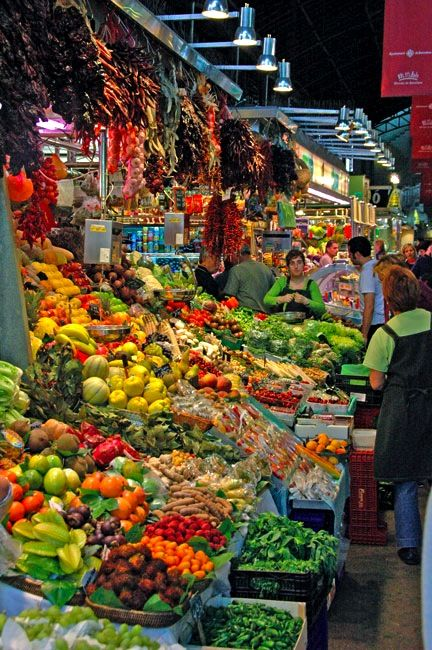 Barcelona ~ The 100-year-old Mercado de Sant Josep, commonly called La Boqueria, is one of the world's great food markets.
