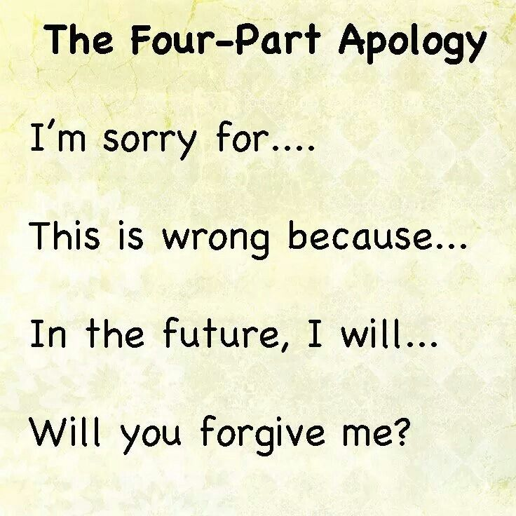 Teach your kids to apologise the right way and mean it!
