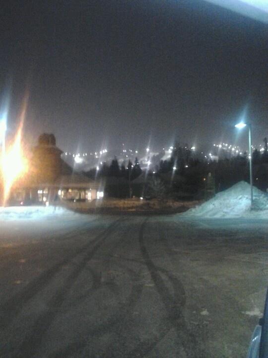 Night skiing/Mont Saint Sauveur