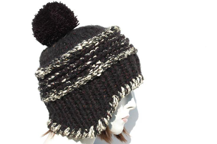 Womens Beanie Pom-Super Chunky Knit-Earflap Hat-Pom Pom