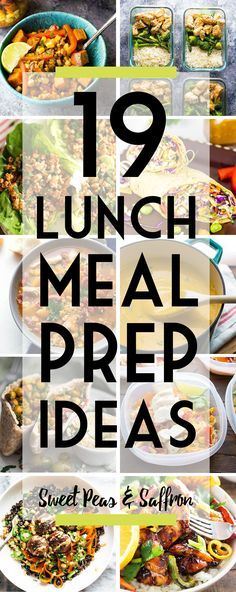 This round up has healthy lunch meal prep ideas including grain bowls, soups and wraps. Plus meal prep tips to get you started with weekly meal prep.