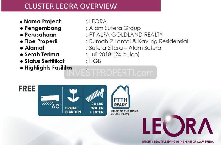 Cluster Leora Alam Sutera overview.