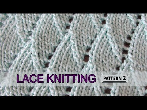 Knitting Stitches Waves : Overlapping Waves Lace Knitting Pattern #2 - Knitting Story El arte de te...