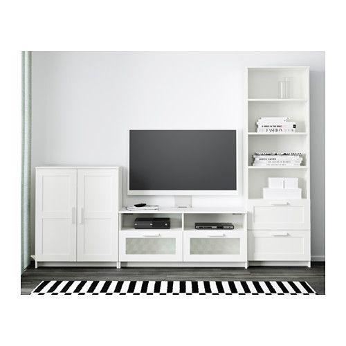 BRIMNES TV storage combination - white - IKEA