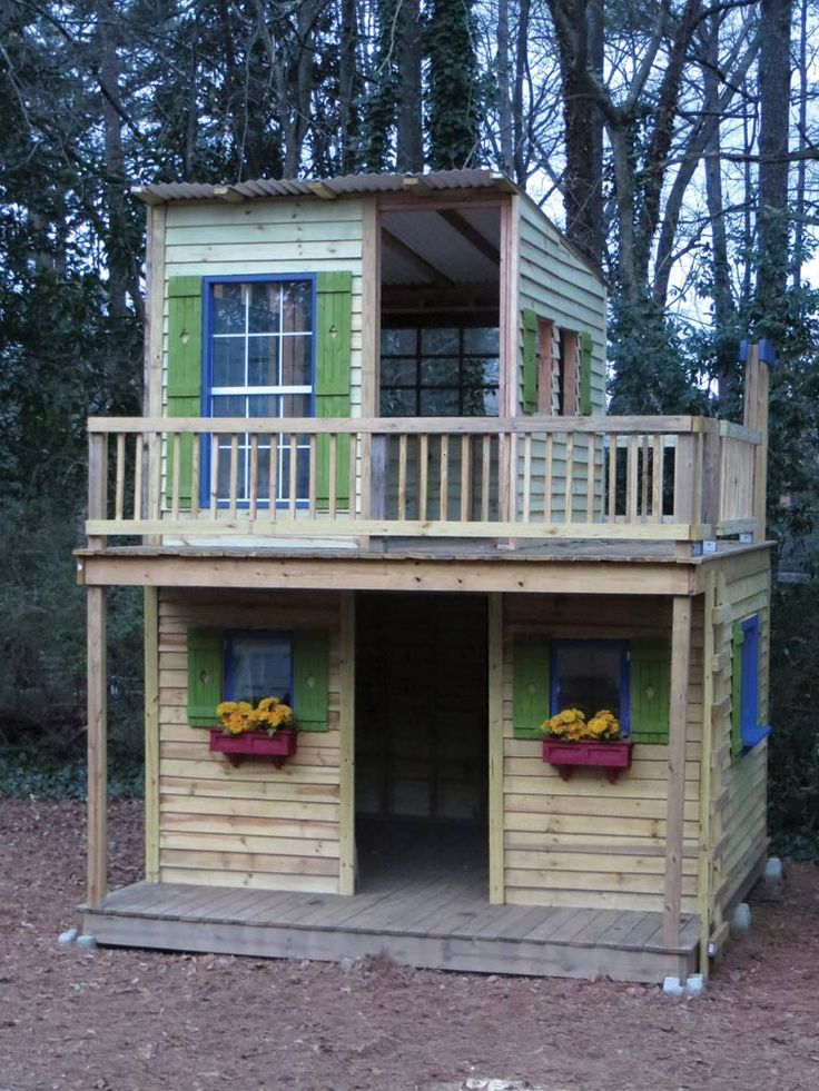 17 best ideas about playhouse plans on pinterest diy for Building a 2 story house