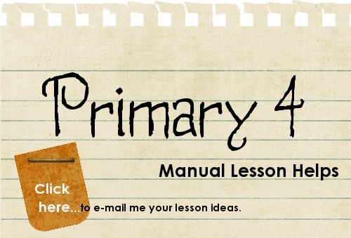 Primary lesson helps. Seriously, has saved my life so far as a first time primary teacher this year! This site is full of helpful object lessons, activities and even powerpoint presentations to supplement each lesson in your manual!