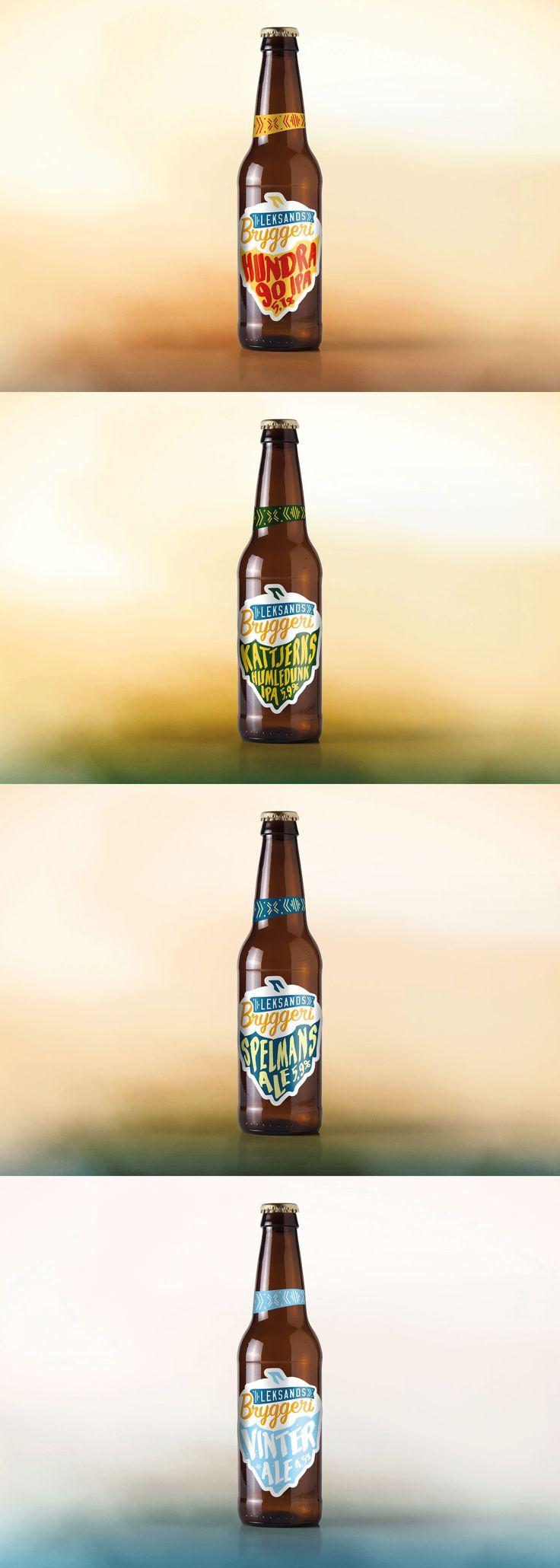 Leksands Bryggeri concept by Viktor Forsman  #packaging #beer #label #design #packagingdesign #leksand #forpackningsdesign #forpackning #öl #mikroöl
