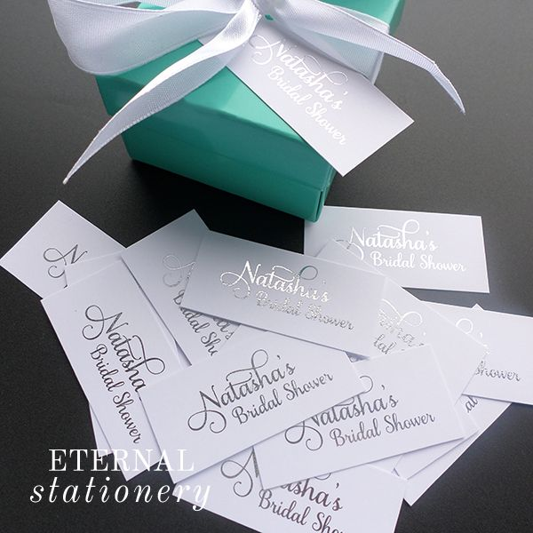 Silver foil favour tags Created by Eternal Stationery www.eternalstationery.com.au