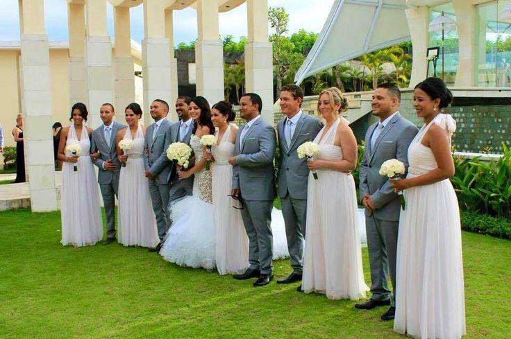 Bridal Party Grey & Pink