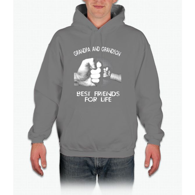 Grandpa Grandson Best Friends For Life T-shirt Father's day Hoodie