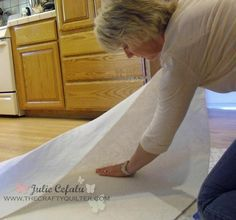Clearest tutorial I've found on 'How to Spray Baste Your Quilt'