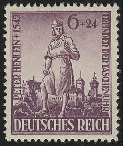 D.Reich 1942 Peter Henlein MiNr 819