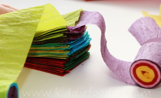 Crepe Paper Craft For Kids