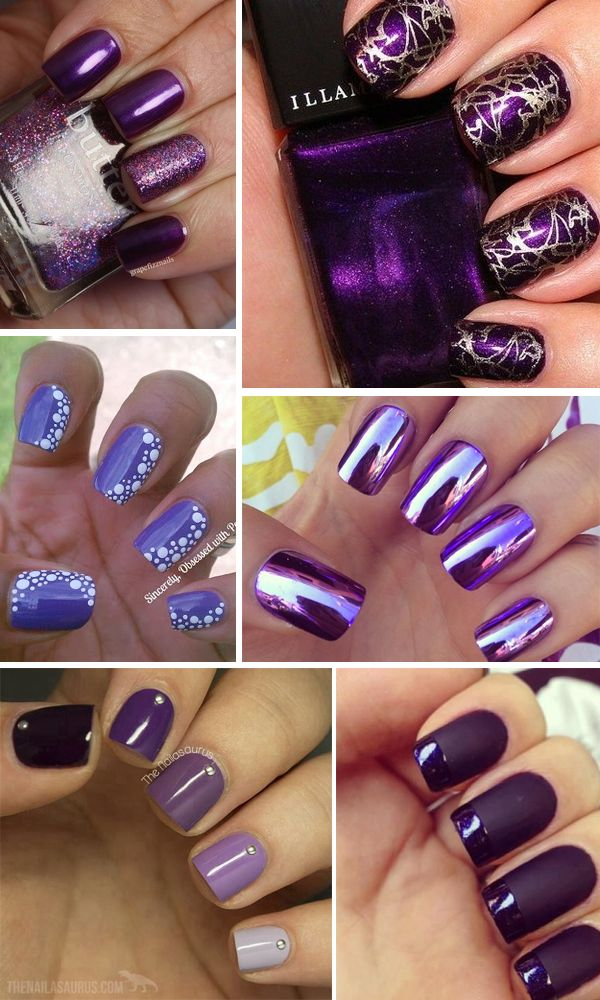 unghie-viola purple-nails