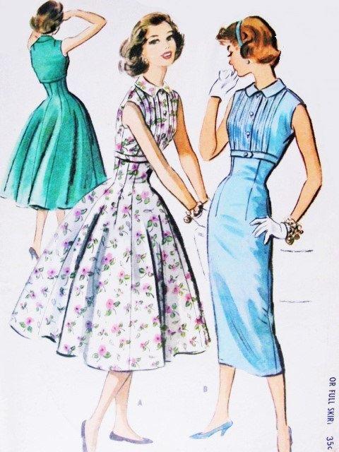 Patrons de couture vintage authentique: il s'agit d'une fabuleuse robe originale, fabrication de patron, pas une copie. Parce que les patrons de couture sont vintage et pré appartenant, nous vérifions chaque patron de couture vintage pour être complet, pour les pièces du patron et la feuille d'instruction. Dans de nombreux cas les motifs vintages n'ont jamais été utilisés et sont non-coupe et l'usine plié.  Pattern : patrons McCall  Numéro de modèle #4009  Copyright : années 1950  Le motif…