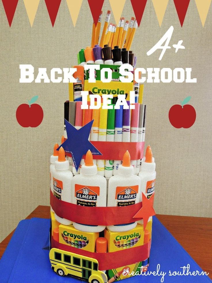 Back To School Teacher Supply Cake