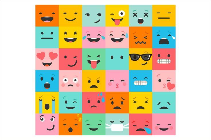 Emoji / emoticons bundle of icons by Marish on @creativemarket