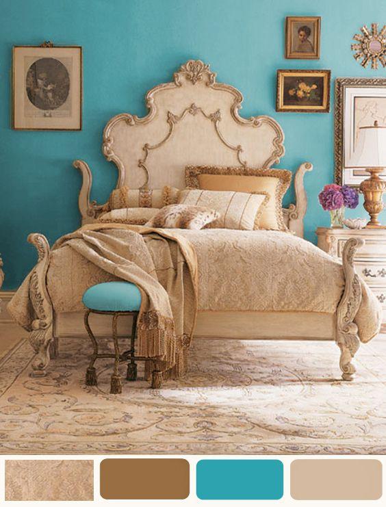 Decorating Bedroom Ideas - Turquoise Paint #home #decor #interior #design