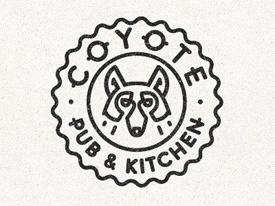 Coyote Logo Simple Line Art Used in Logo Design | 25 Beautiful Examples