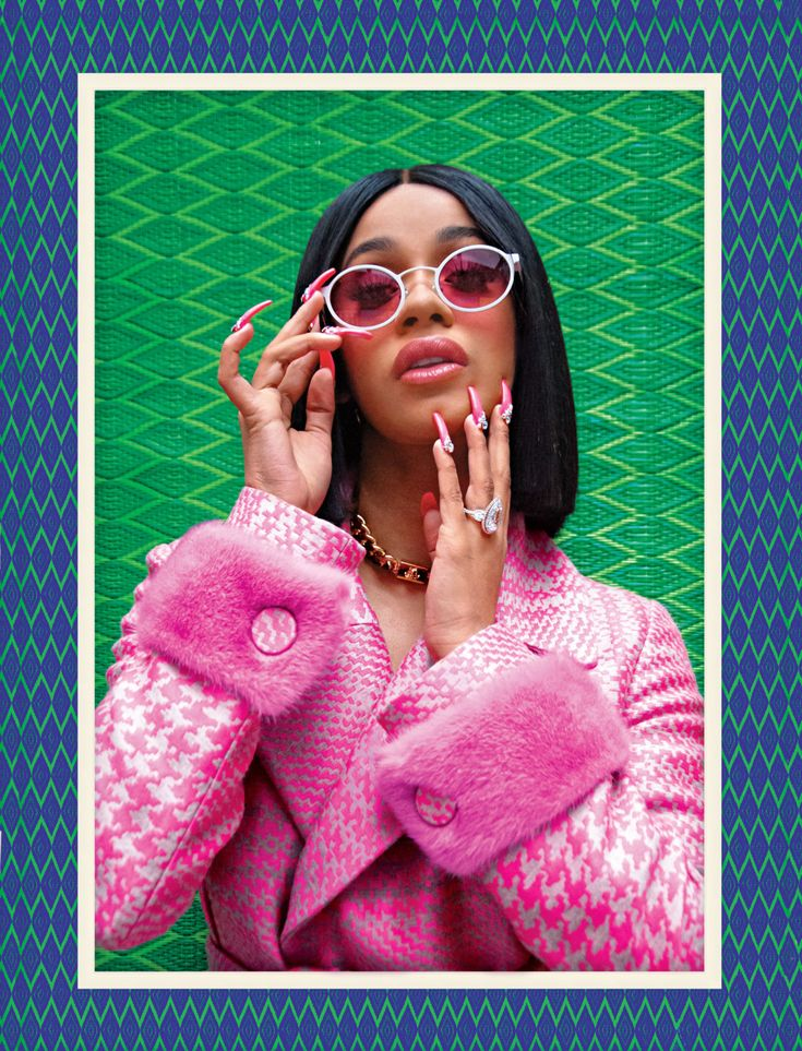 Cardi B in Fendi Resort 18 on the cover of NY Mag by Hassan HajjajRap
