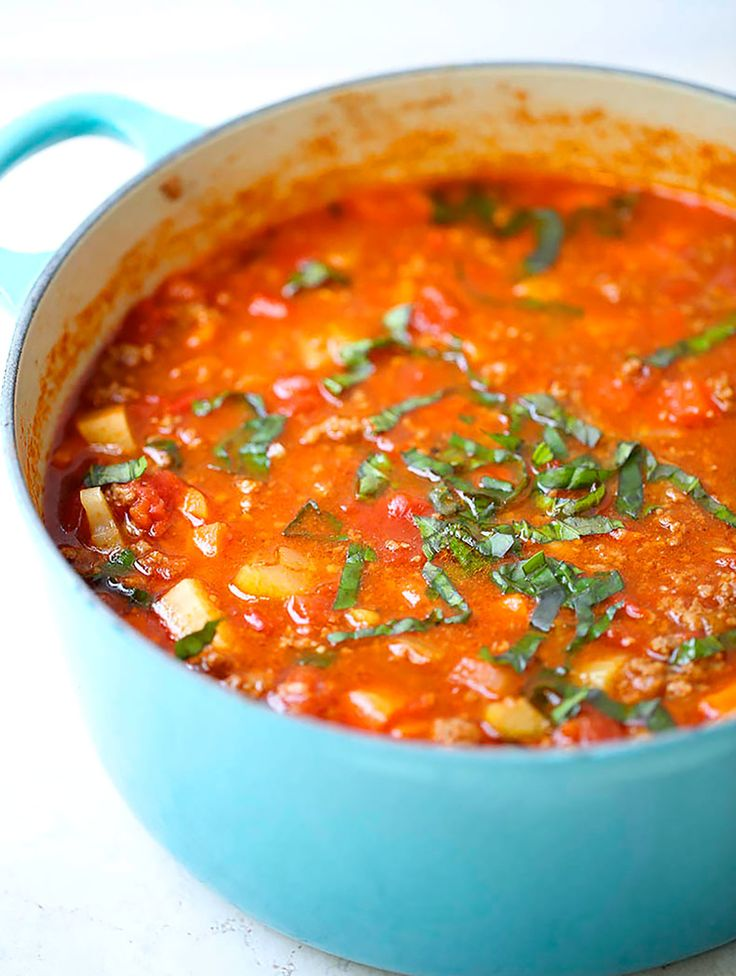 13. Hearty Vegetable Soup #whole30 #recipes http://greatist.com/eat/whole30-dinner-recipes