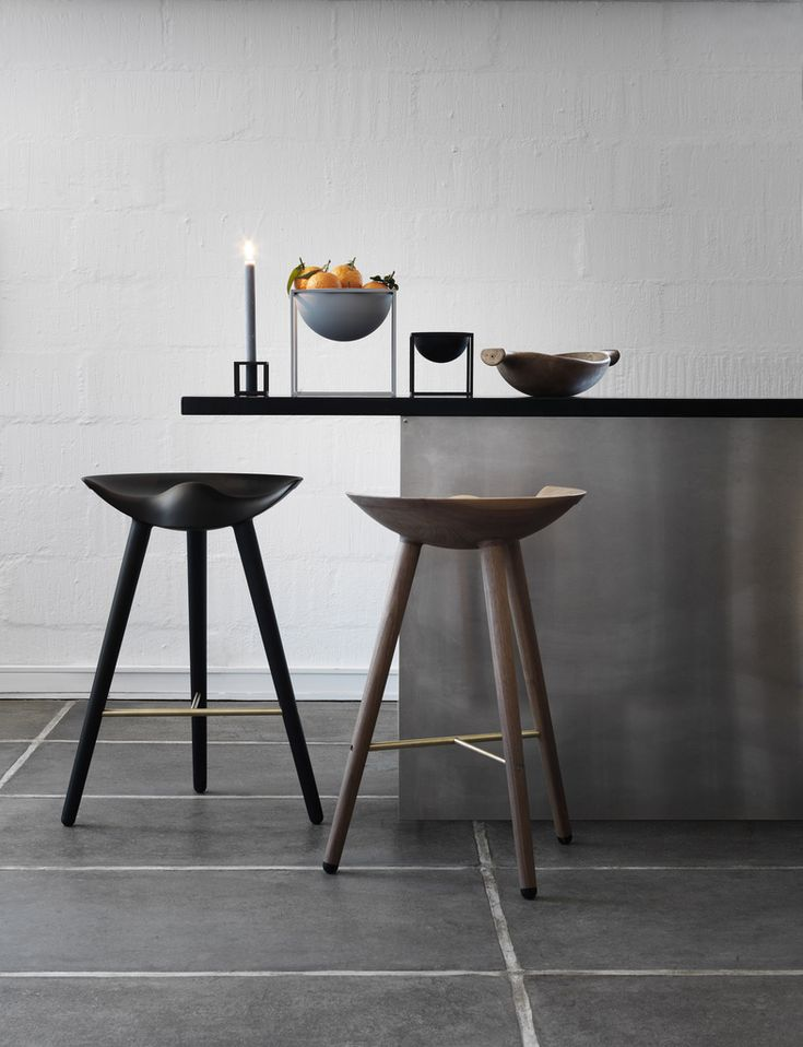 Danish and Scandinavian style designer Bar Stools from By Lassen. Ideal for the interior designer and architectural style home.