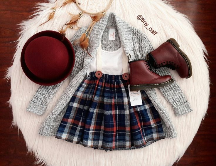 Baby/ toddler fall fashion outfits. Baby / toddler winter fashion outfits.  Suspender skirt by Little People Rocx. Cat & Jack cardigan by Target. Dr. Martens. Docs. Doc Martens. Wine/ burgundy bowler hat/ fedora. Thanksgiving dinner attire