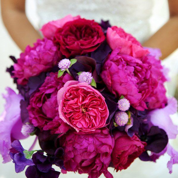 bouquet peonie viola rosa fucsia