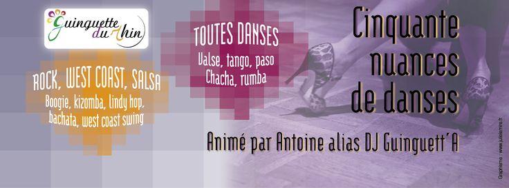 50 Nuances de danses - Après-midi dansant. Le dimanche 26 novembre 2017 à Strasbourg.  14H00