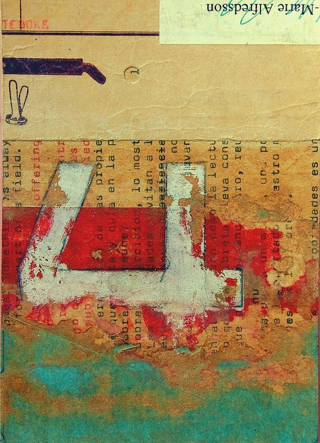 """3&4"" #2 by Sebastian Alvarez / B a s t i a n o - collage mixed media cover of notebook http://www.flickr.com/photos/maalo/sets/72157623090035635"