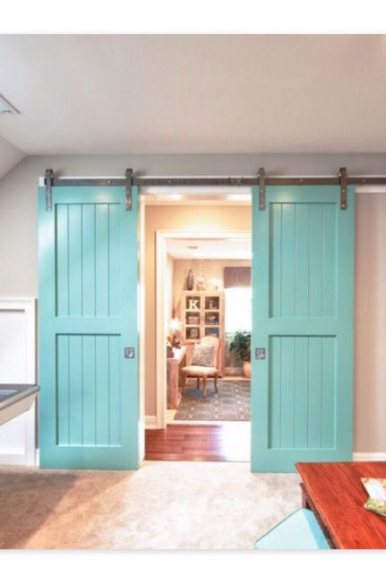 narrow turquoise barn doors pinterest turquoise