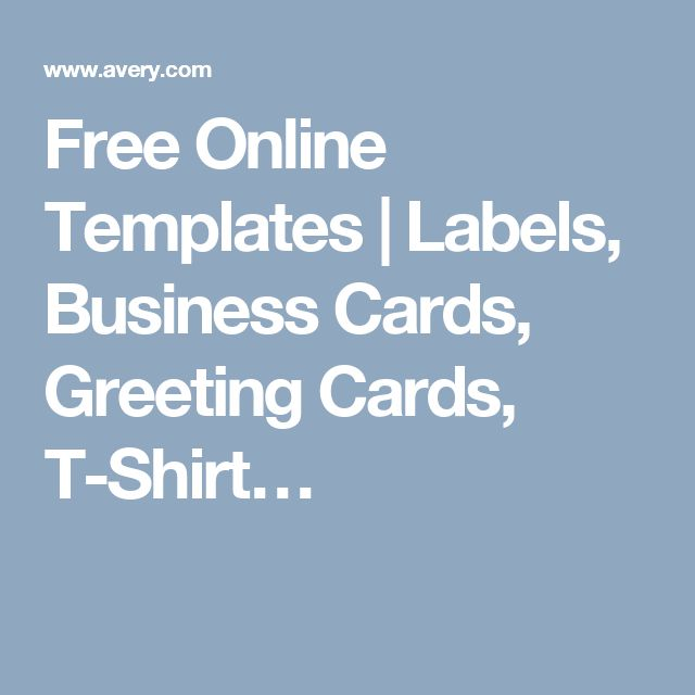 Free Online Templates   Labels, Business Cards, Greeting Cards, T-Shirt…