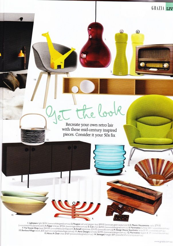 Check out our feature from Grazia in November 2011! #bamboo #modernhome #press