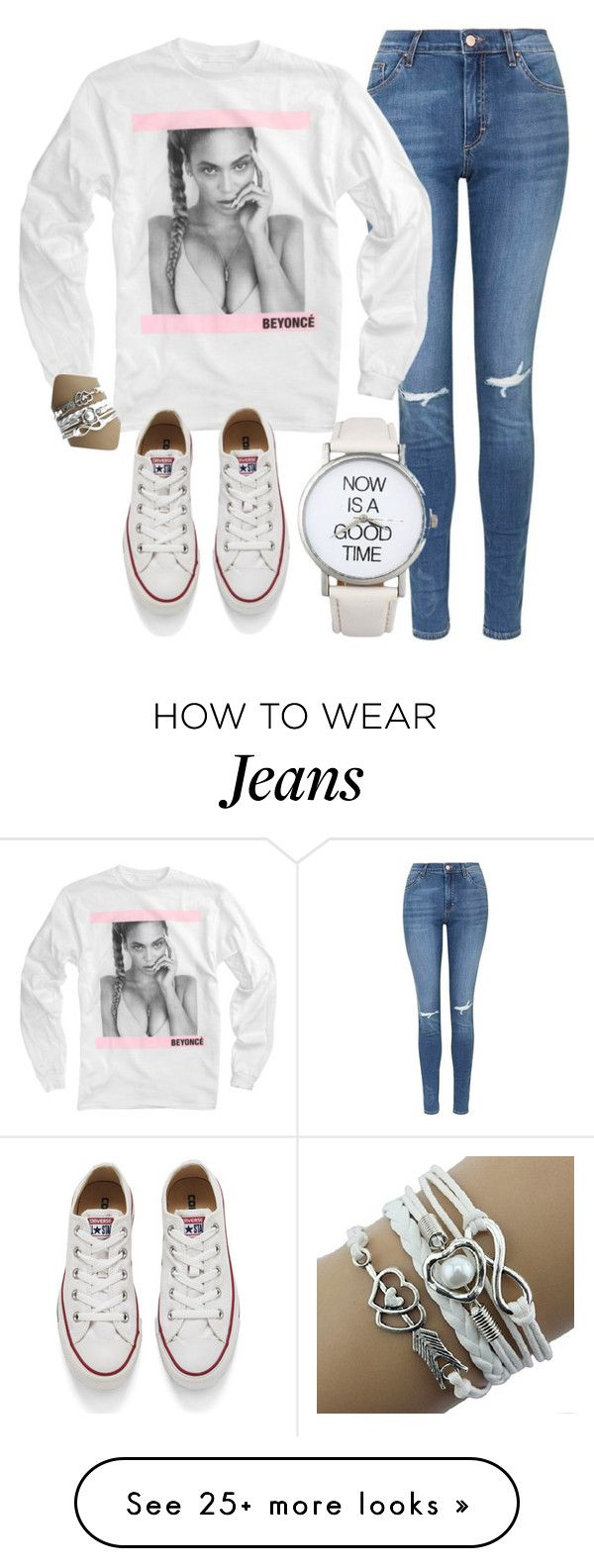 """""""Casual Friday"""" by myfriendshop on Polyvore featuring mode, Topshop, Converse, women's clothing, women, female, woman, misses et juniors"""