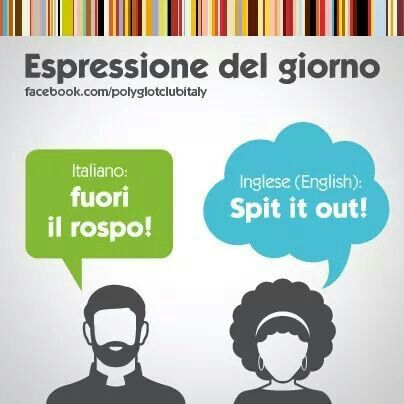 Learning Italian Language ~ Spit it out